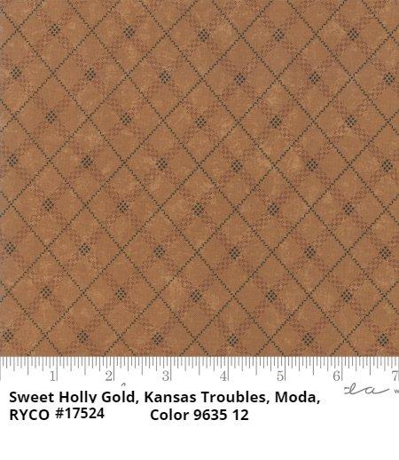 Sweet Holly by Kansas Troubles for Moda Fabrics- Gold