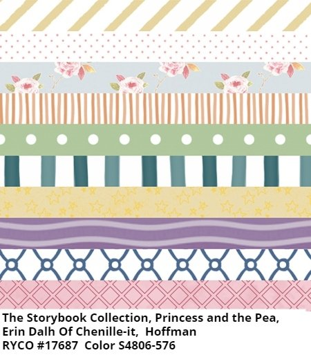 The Storybook Collection: Princes and the Pea by Hoffman Fabrics