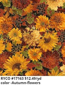 Flowers by Timeless Treasures (HARVEST-CM6140-AUTUMN)