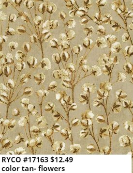 Cream Cotton Blooms by Timeless Treasures (HARVEST-CM7698-TAN)