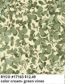 Metallic Button Leaves by Timeless Treasures (HARVEST-CM7699-CREAM)