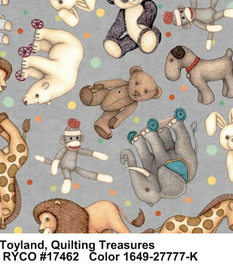 Toyland by Quilting Treasures- Animal Toss
