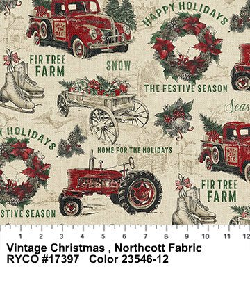Vintage Christmas by Northcott