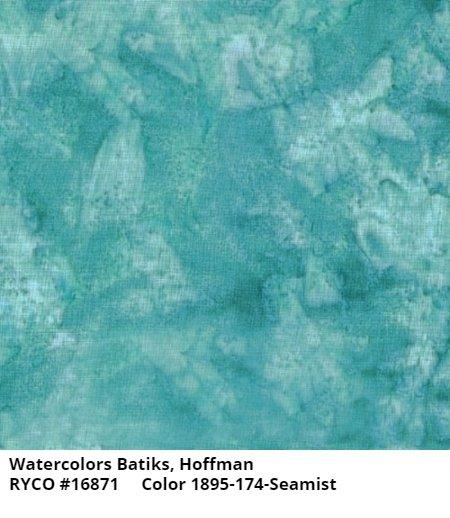 Hoffman Bali Watercolors by Hoffman Fabrics- Seamist