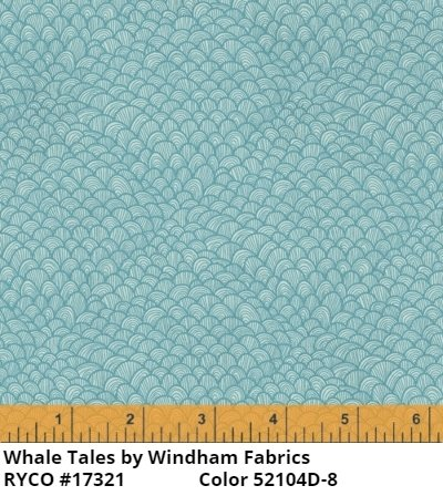 Whale Tales by Windham Fabrics (52104D-8)