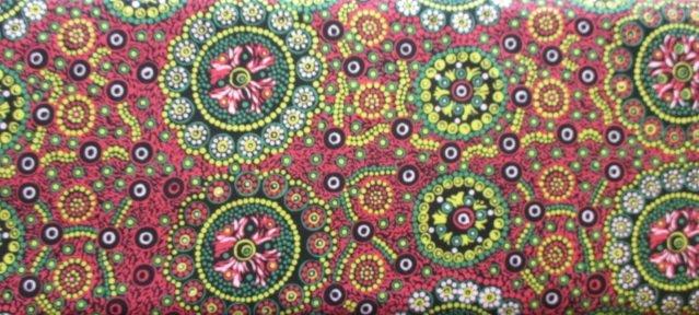 Australian Prints by M&S Textiles (WILD-DESERT-FLOWERS-RED)