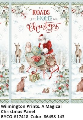 A Magical Christmas by Lisa Audit & Wilmington Fabrics (1409-86458-143)