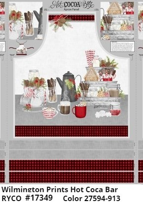 Hot Cocoa Bar Apron Panel by Danielle Leone