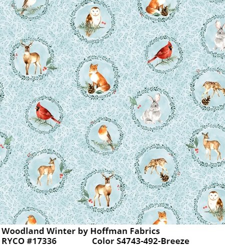 Woodland Winter by Hoffman Fabrics