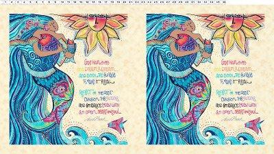 Sea Goddess Panel by Clothworks