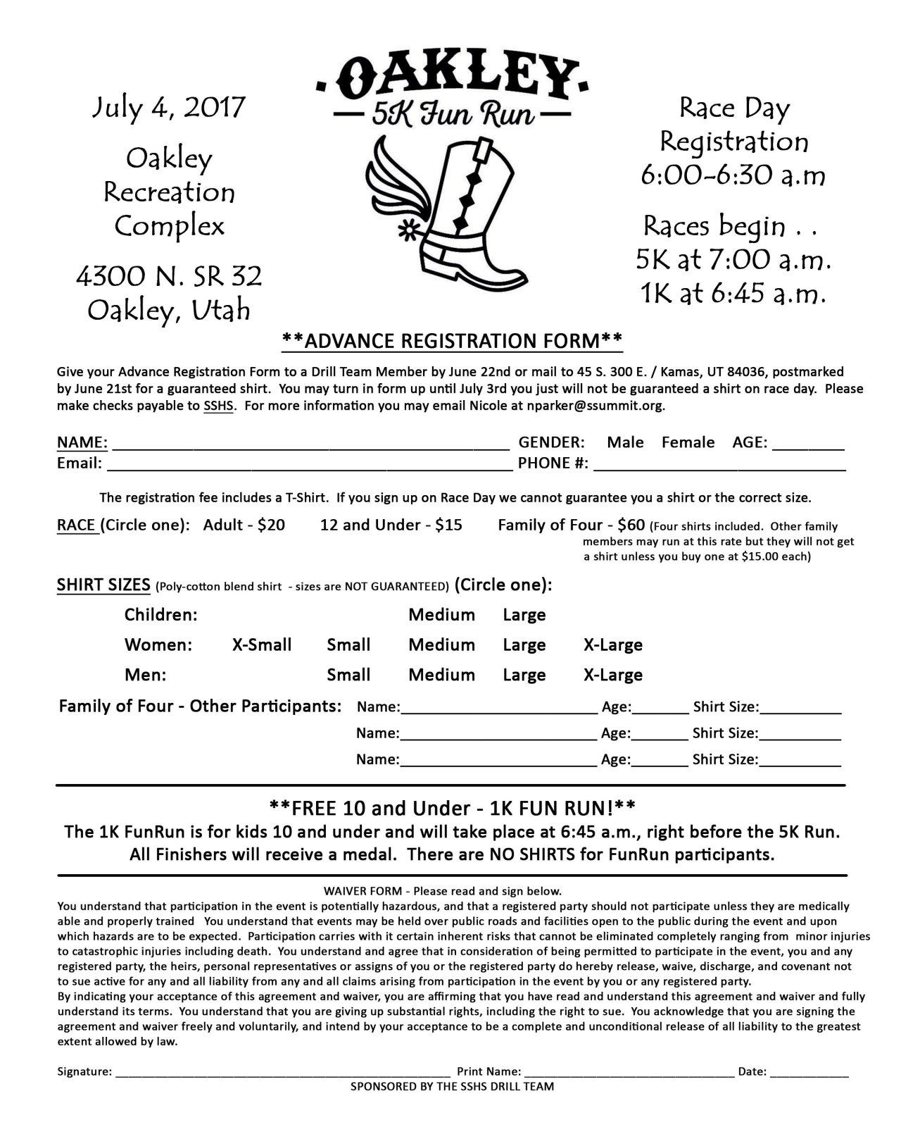 Oakley 5k Fun Run