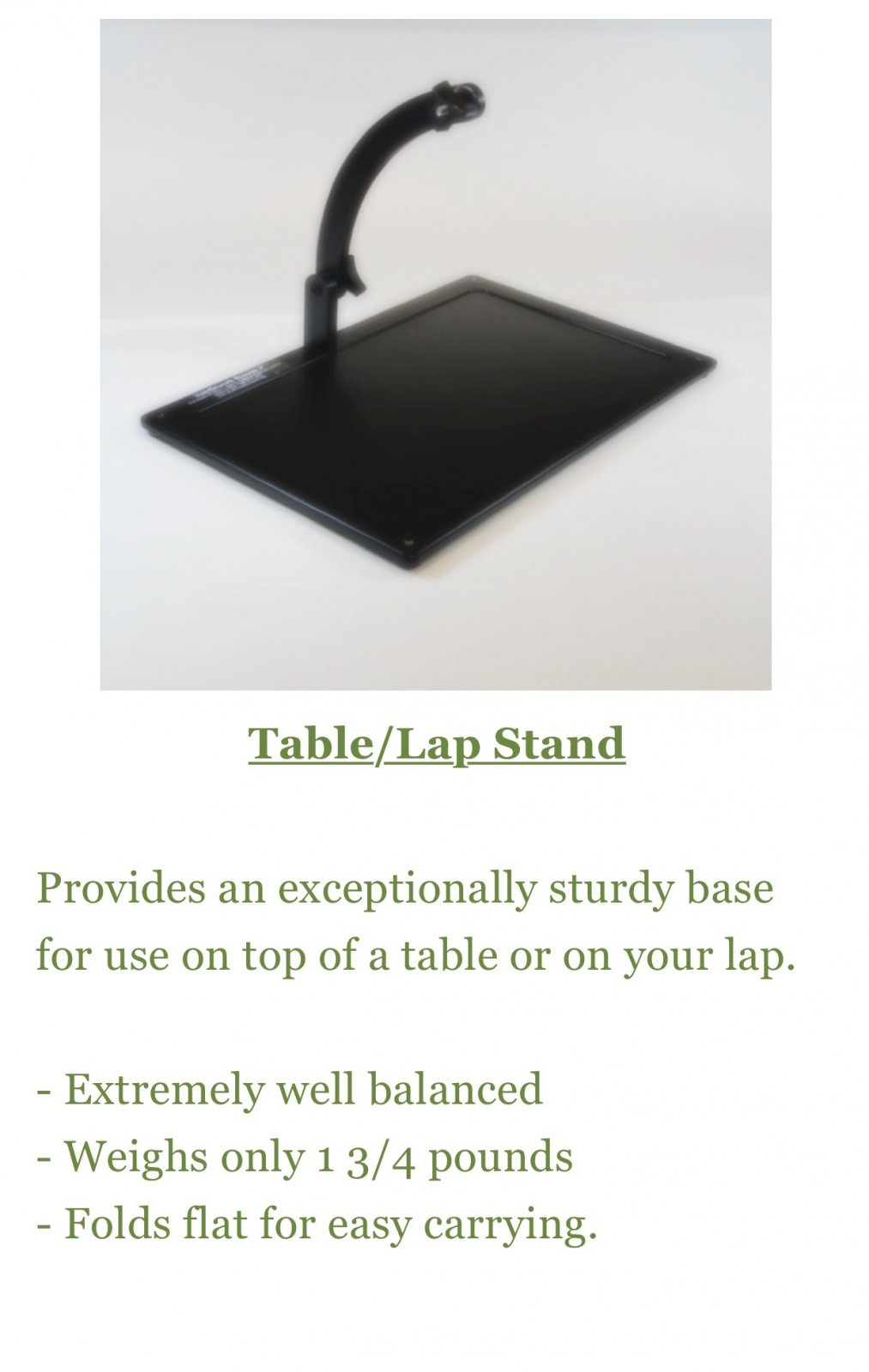 COMPLETE Needlework System 4 Lap Stand with frame clamp