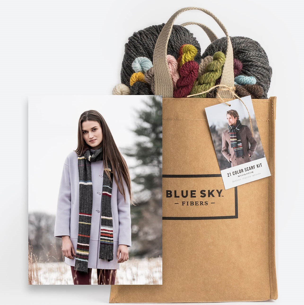 21 Color Scarf Kit by Blue Sky Fibers
