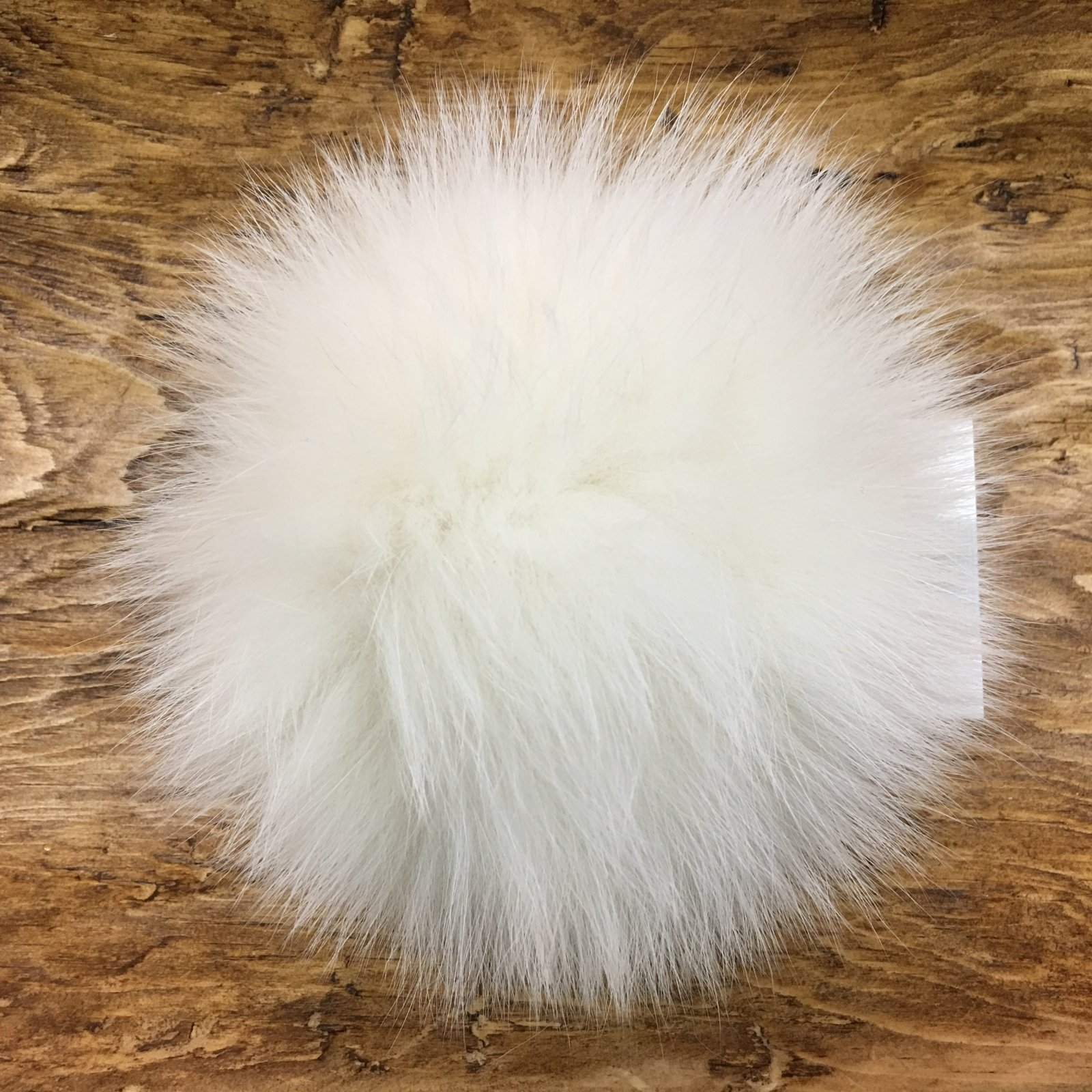 5 Raccoon Fur Pom Poms with Snap
