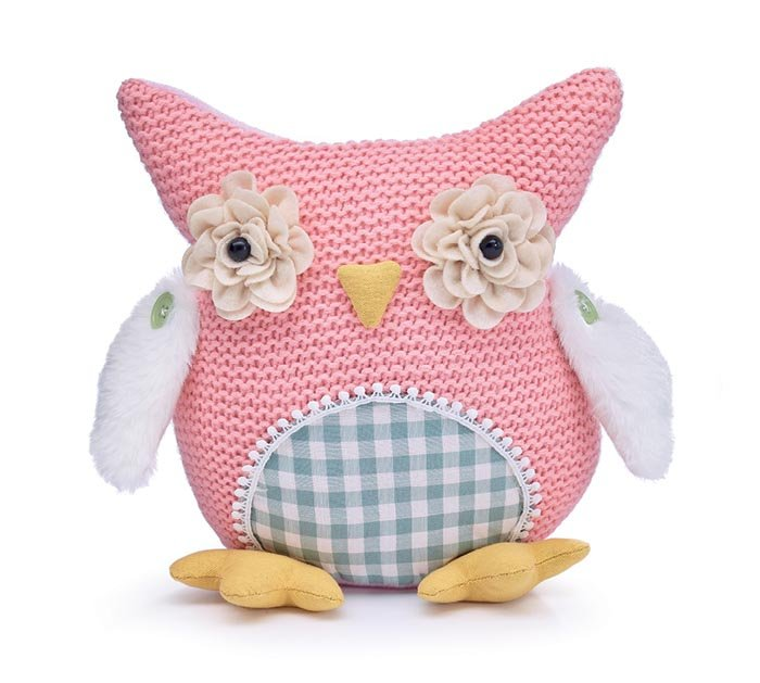 Knitted Pink Owl Plushie