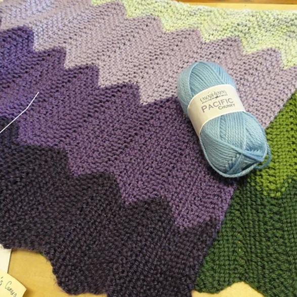 Askew Baby Blanket Pattern