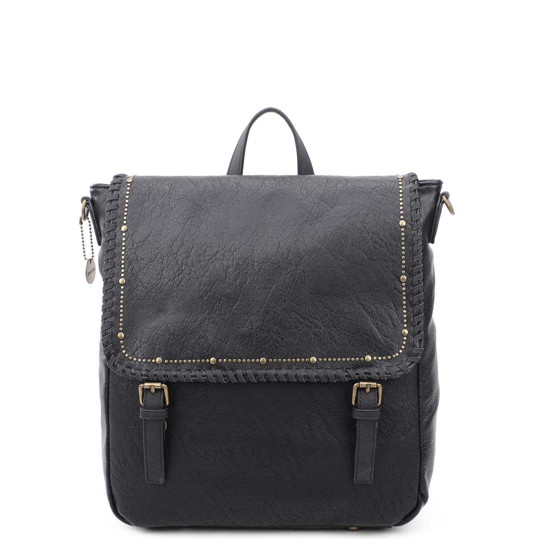 Vegan Leather Studded Crossbody/Backpack