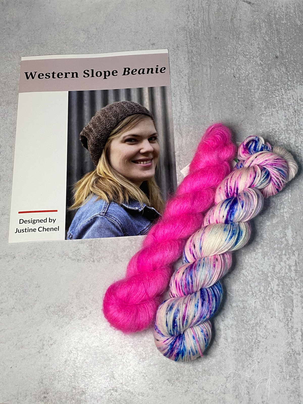 Western Slope Beanie Kit Totally Rad Yarns TS