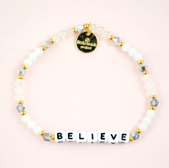 Little Words Bracelet - White