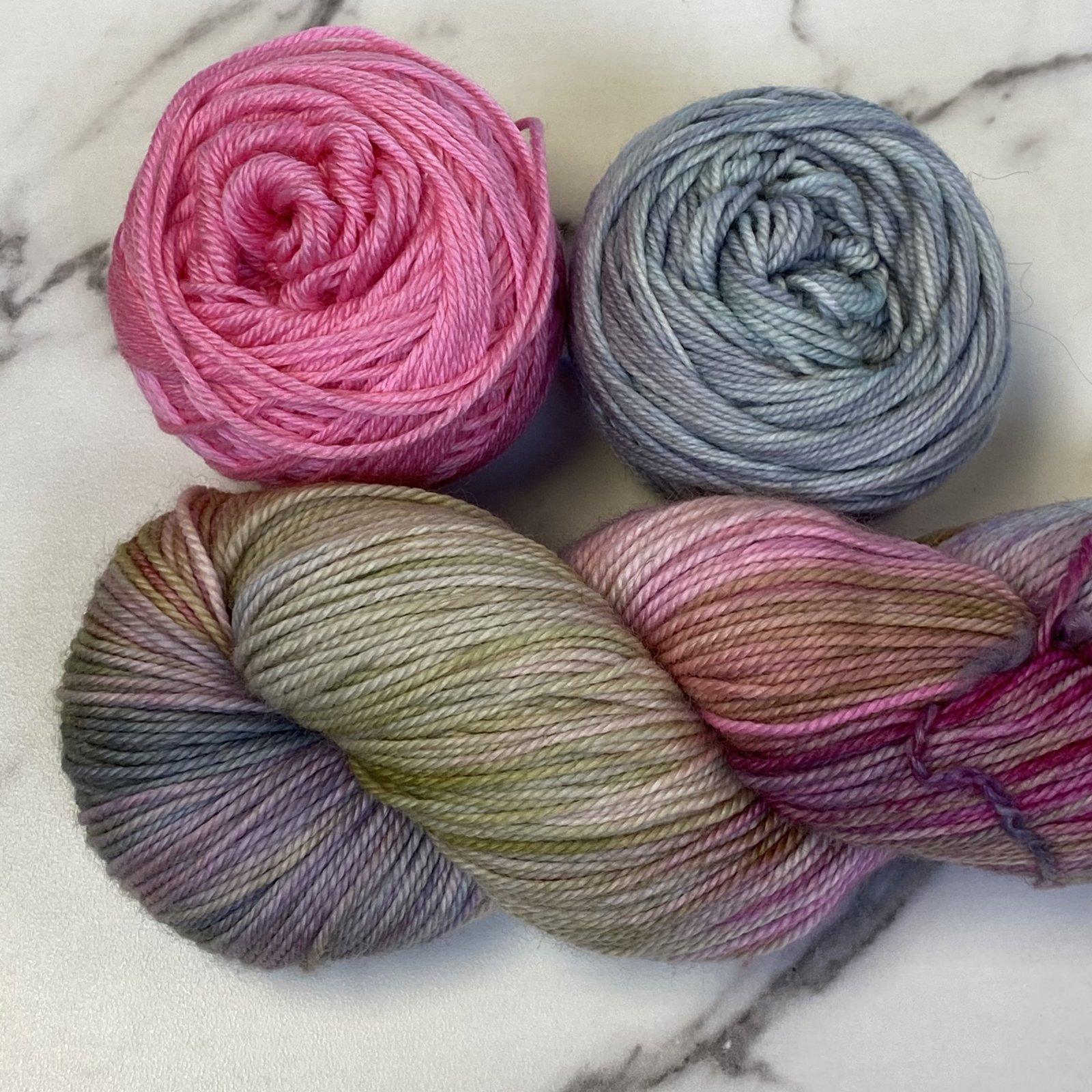 Raspberry Cordial Shawlette Kit - Casapinka's Anne of Greene Gables KAL