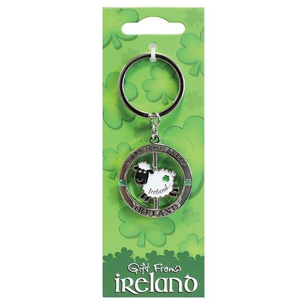 Gift From Ireland Sheep Spinner Keyring