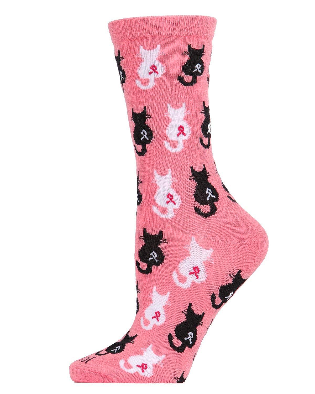 MeMoi Breast Cancer Awareness Socks
