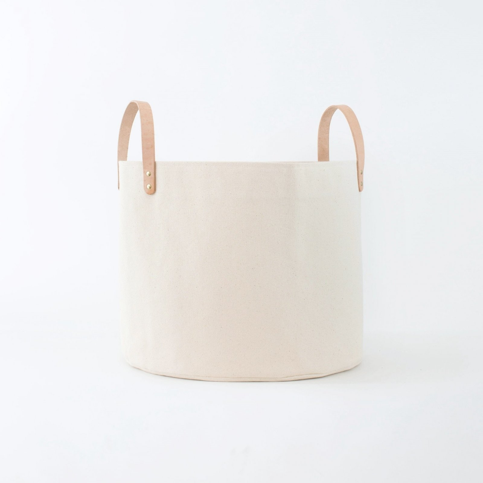 Medium Minimalist Canvas Bucket Basket