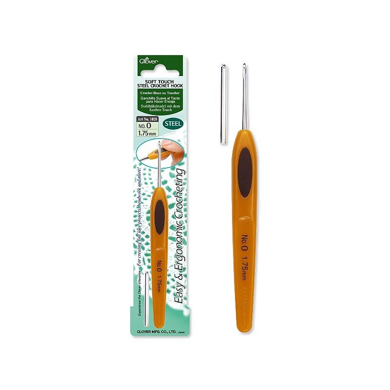 Soft Touch Steel Crochet Hook by Clover
