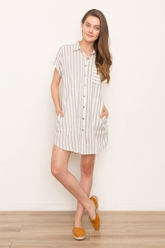 Mystree Stripe Dress