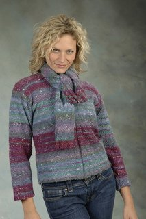 Mushishi pattern #1778 Pullover and Scarf by Plymouth
