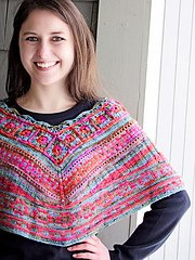 Bohemia Mini Poncho pattern in Kettle Tweed by Knit One Crochet Too