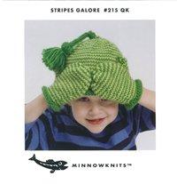 MinnowKnits pattern 215 - Stripes Galore