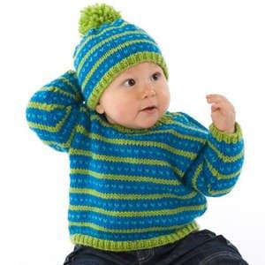 MinnowKnits pattern 254 - Fair Isle Sweater & Hat