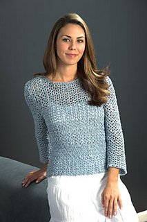 Linen Concerto pattern #2550 Crochet Top from Plymouth
