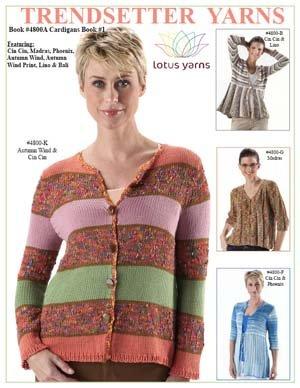 Trendsetter design Book #4800A Cardigans Book #1