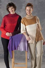 Transitions Ribbed Cross Reversible Pullover pattern
