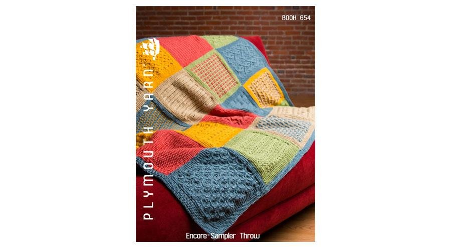 Encore Sampler Throw design booklet from Plymouth