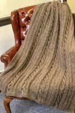Aireado pattern #3284 Cabled Afghan by Plymouth
