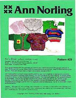 Kid's Basic Pullover, Cardigan & Vest pattern #29 from Ann Norling