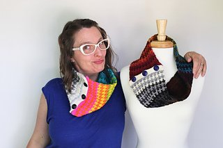 Amazing Technicolor Dream Cowl kit by Knitted Wit