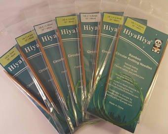 HiyaHiya Bamboo Circular Needles 08 tip