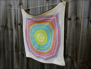 Color Wheel crocheted blanket pattern from Big Bad Wool