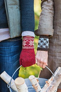 Colorwork Cuffs and Mittens pattern from Churchmouse