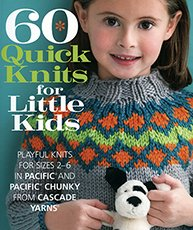 60 Quick Knits for Little Kids design book by Cascade
