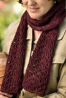 English Mesh Lace Scarf pattern from Churchmouse