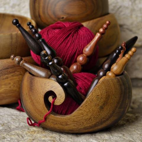 RoseWood Yarn Bowl by Furls Crochet