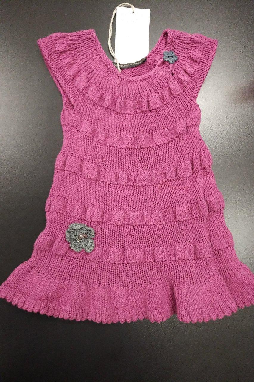 Girly Dress model in Hempton from Lanaknits