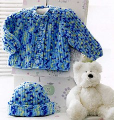 Flutterby Chunky pattern JB171 - Jacket and Hat from James C Brett