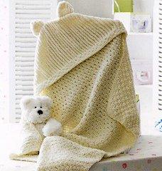 Flutterby Chunky pattern JB174 - Hooded Blanket from James C Brett