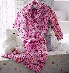 Flutterby Chunky pattern JB175 - Dressing Gown from James C Brett